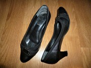 Женские черные кожаные туфли (натуральная кожа) Донецк